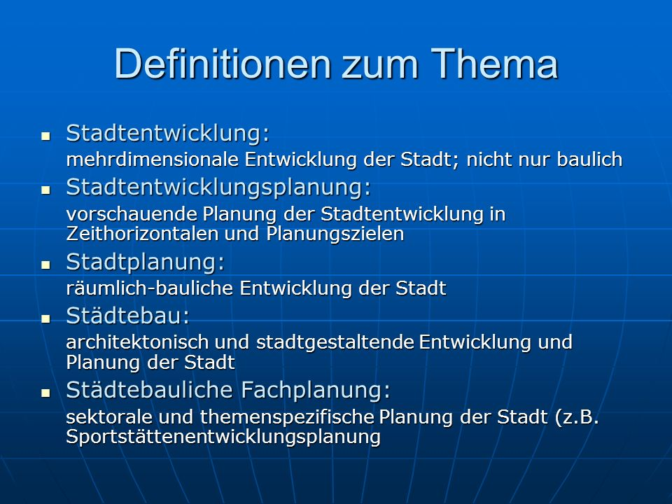 Definitionen zum Thema
