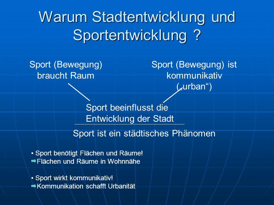 Warum Stadtentwicklung und Sportentwicklung