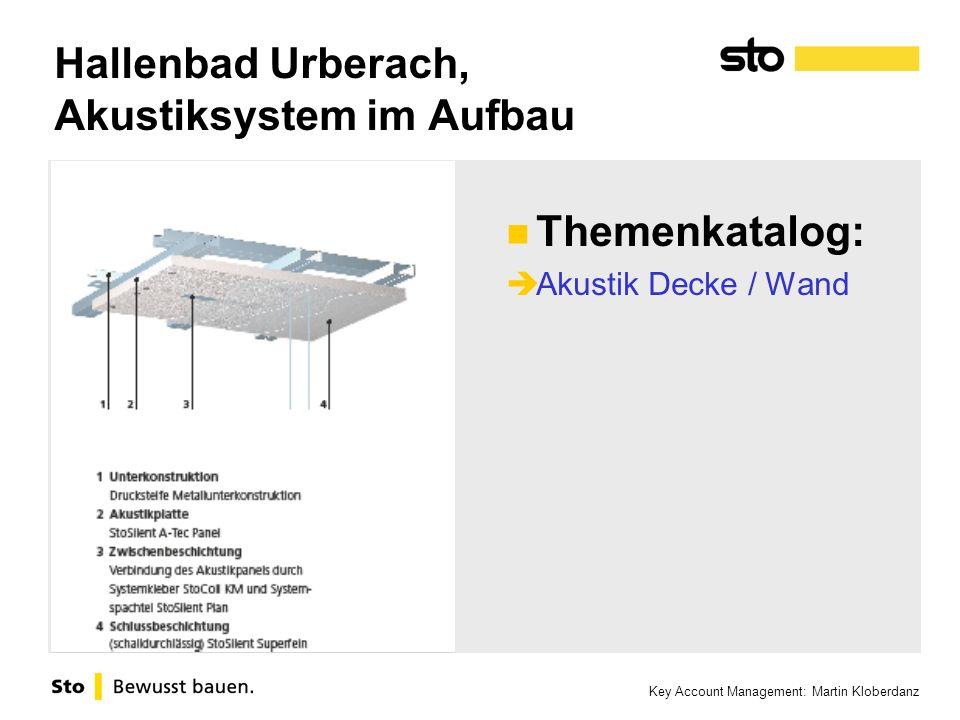 Hallenbad Urberach, Akustiksystem im Aufbau