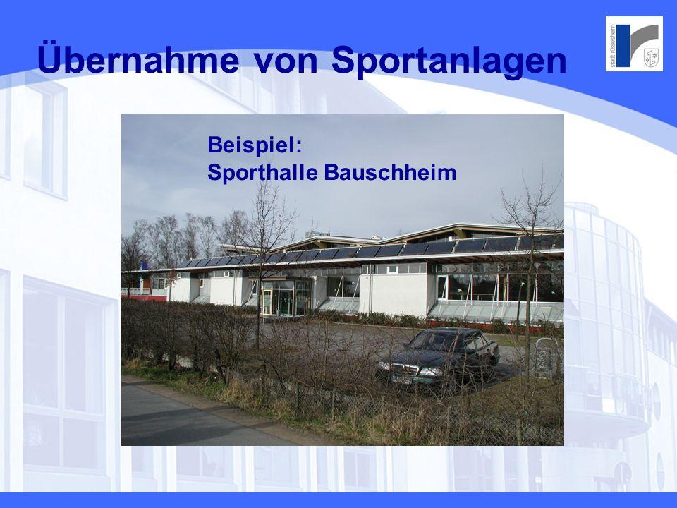 Übernahme von Sportanlagen