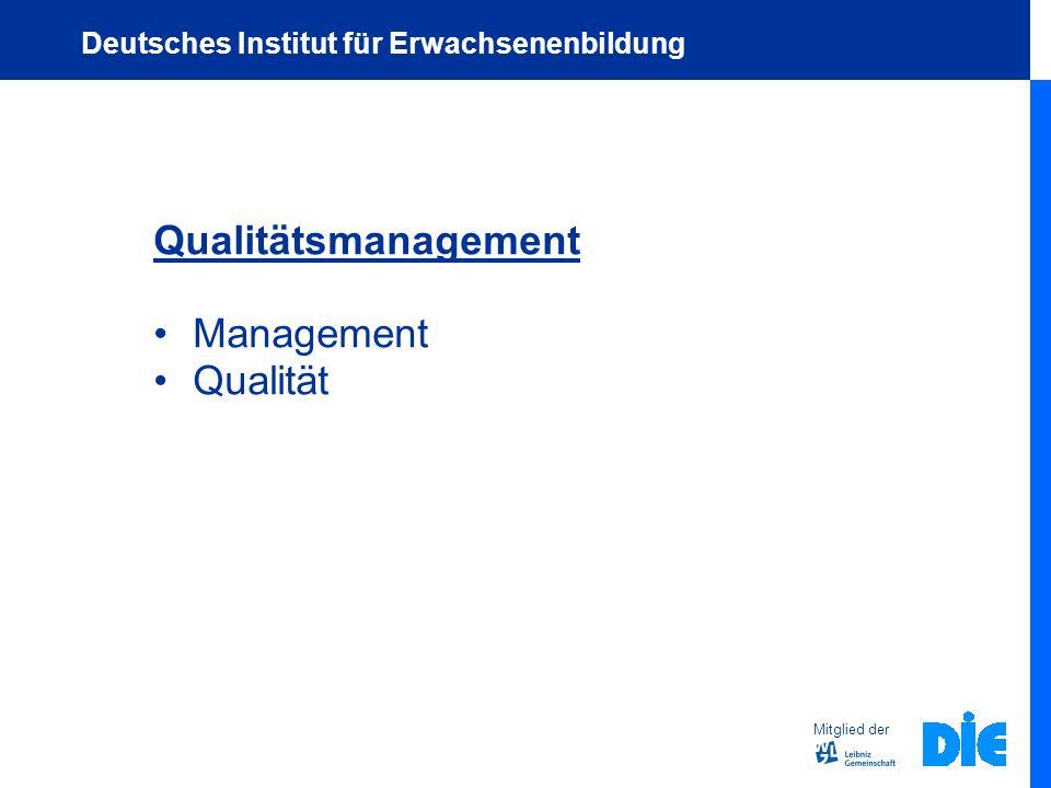 Qualitätsmanagement Management Qualität