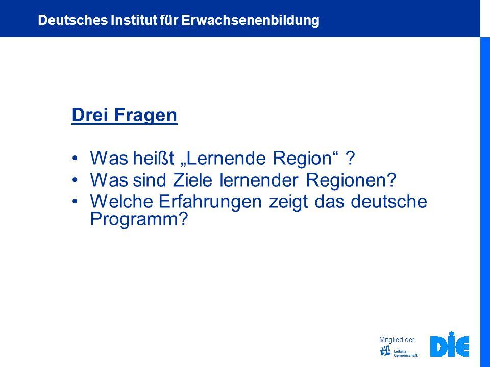 """Was heißt """"Lernende Region Was sind Ziele lernender Regionen"""