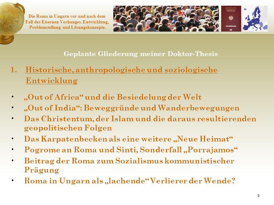 1. Historische, anthropologische und soziologische Entwicklung