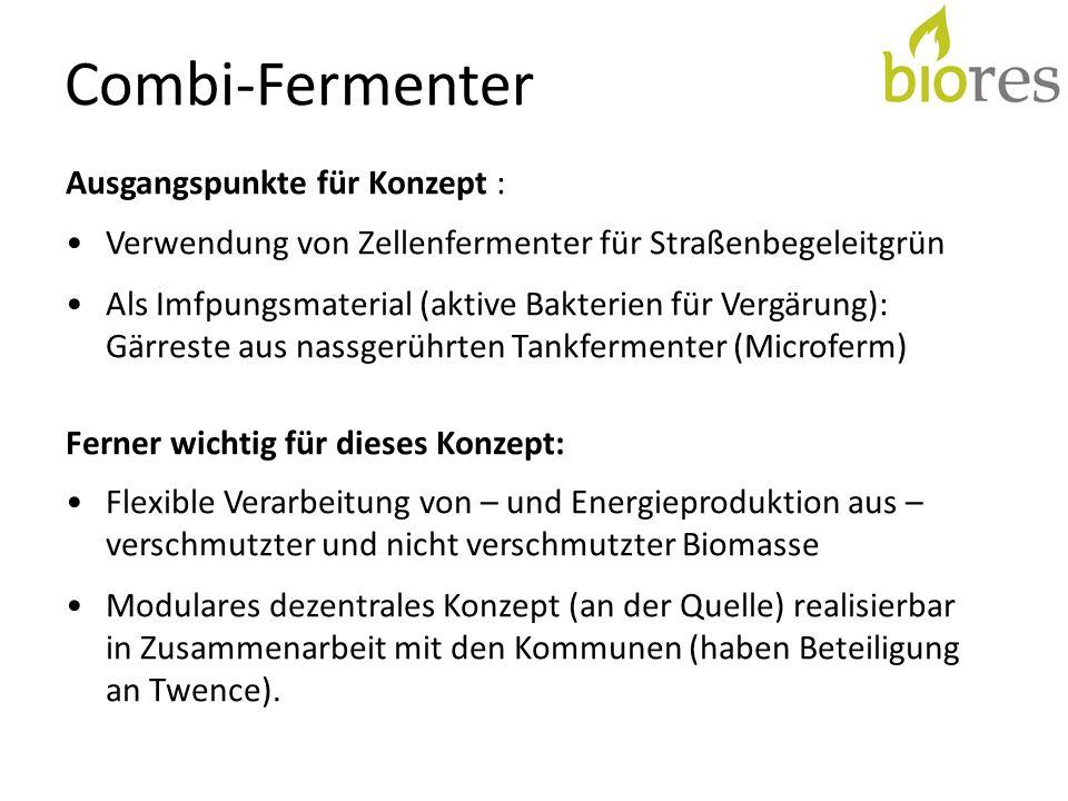 Combi-Fermenter Ausgangspunkte für Konzept :