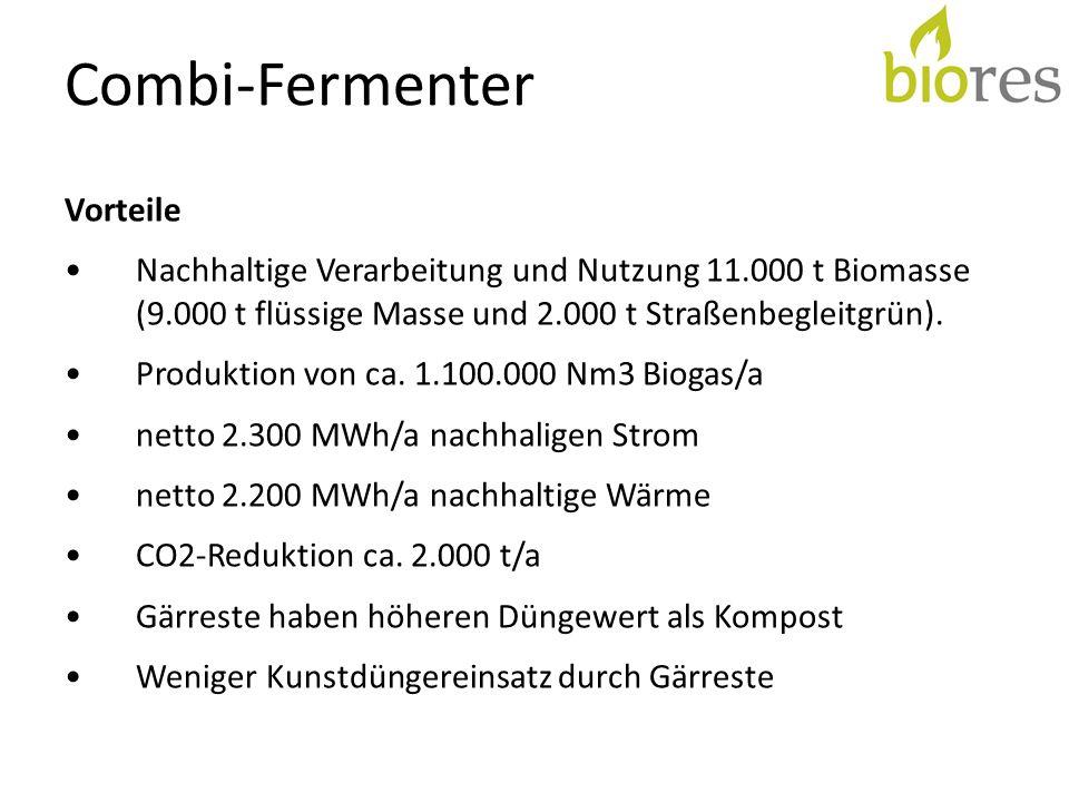 Combi-Fermenter Vorteile