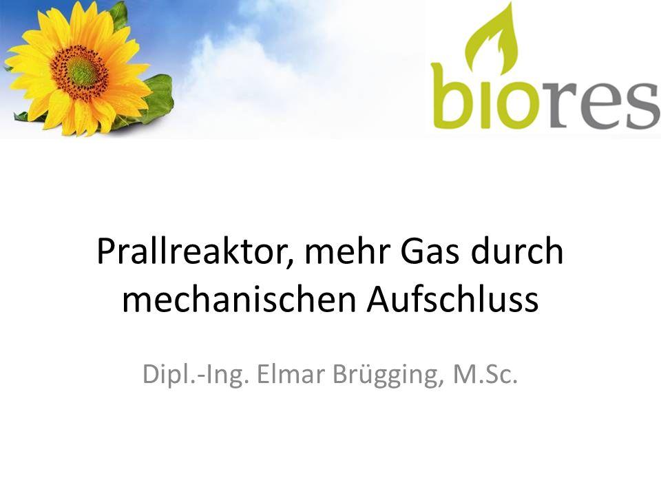 Prallreaktor, mehr Gas durch mechanischen Aufschluss