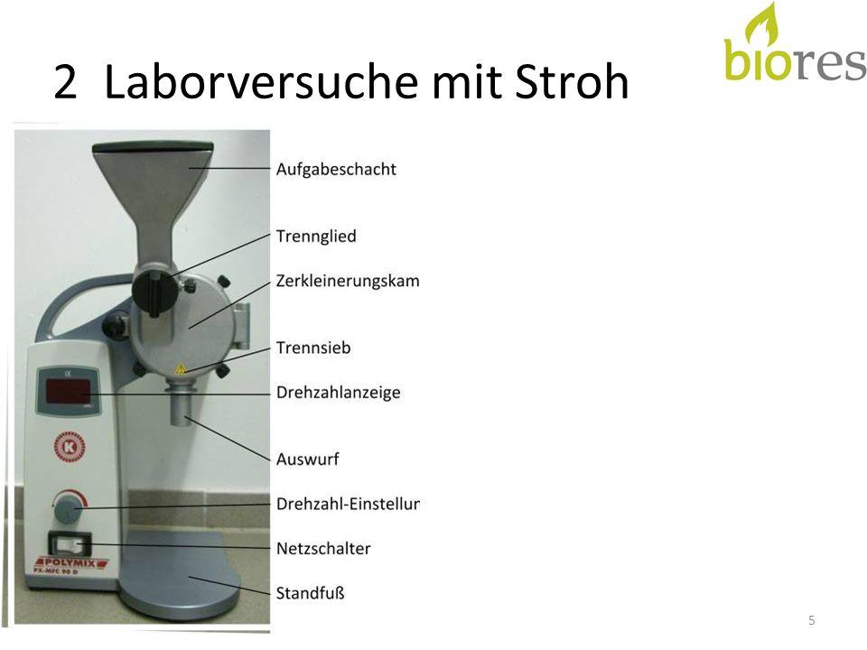 2 Laborversuche mit Stroh