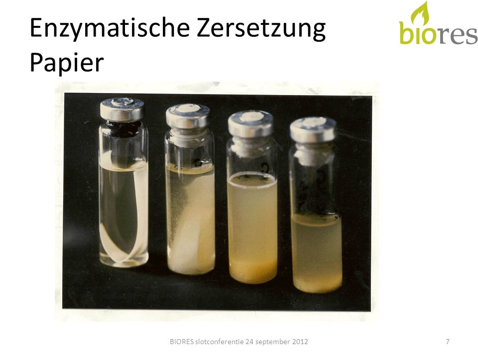 Enzymatische Zersetzung Papier