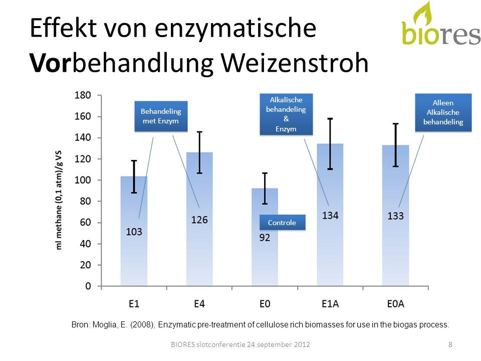 Effekt von enzymatische Vorbehandlung Weizenstroh
