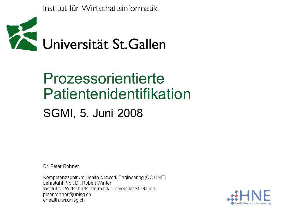 Prozessorientierte Patientenidentifikation