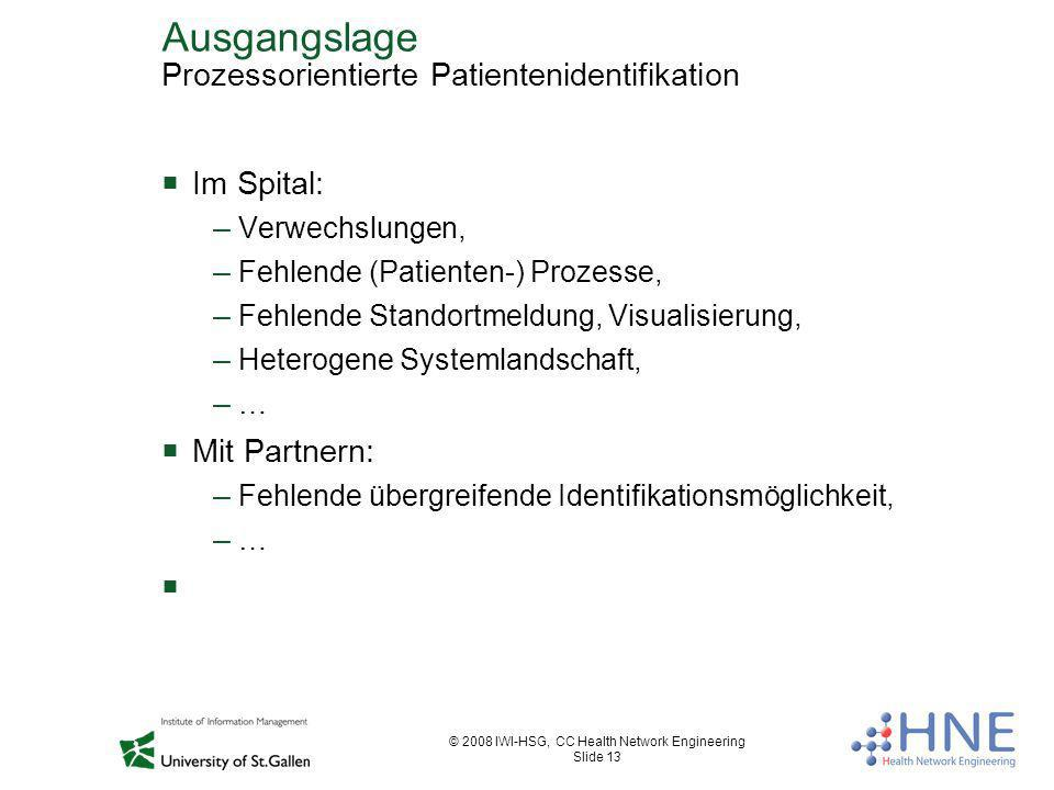 Ausgangslage Prozessorientierte Patientenidentifikation