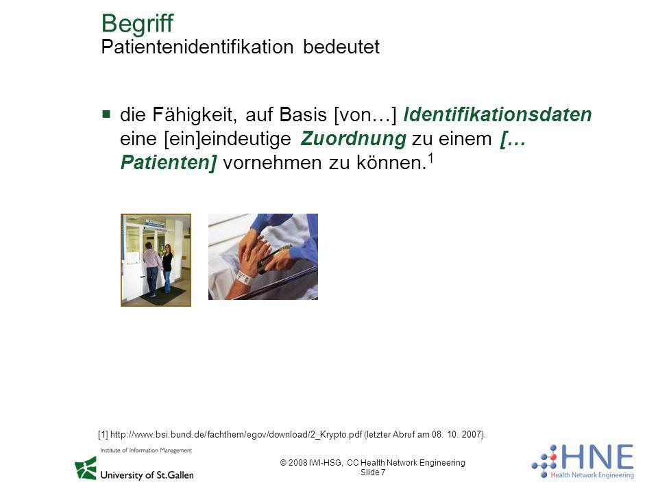 Begriff Patientenidentifikation bedeutet