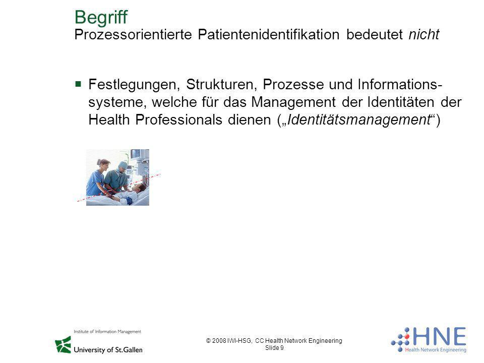 Begriff Prozessorientierte Patientenidentifikation bedeutet nicht