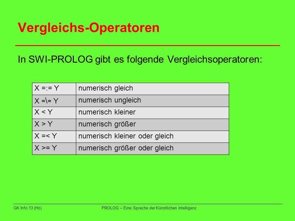 Vergleichs-Operatoren
