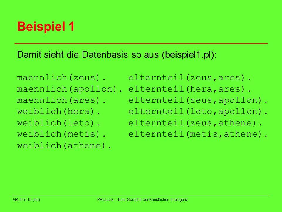 Beispiel 1 Damit sieht die Datenbasis so aus (beispiel1.pl):
