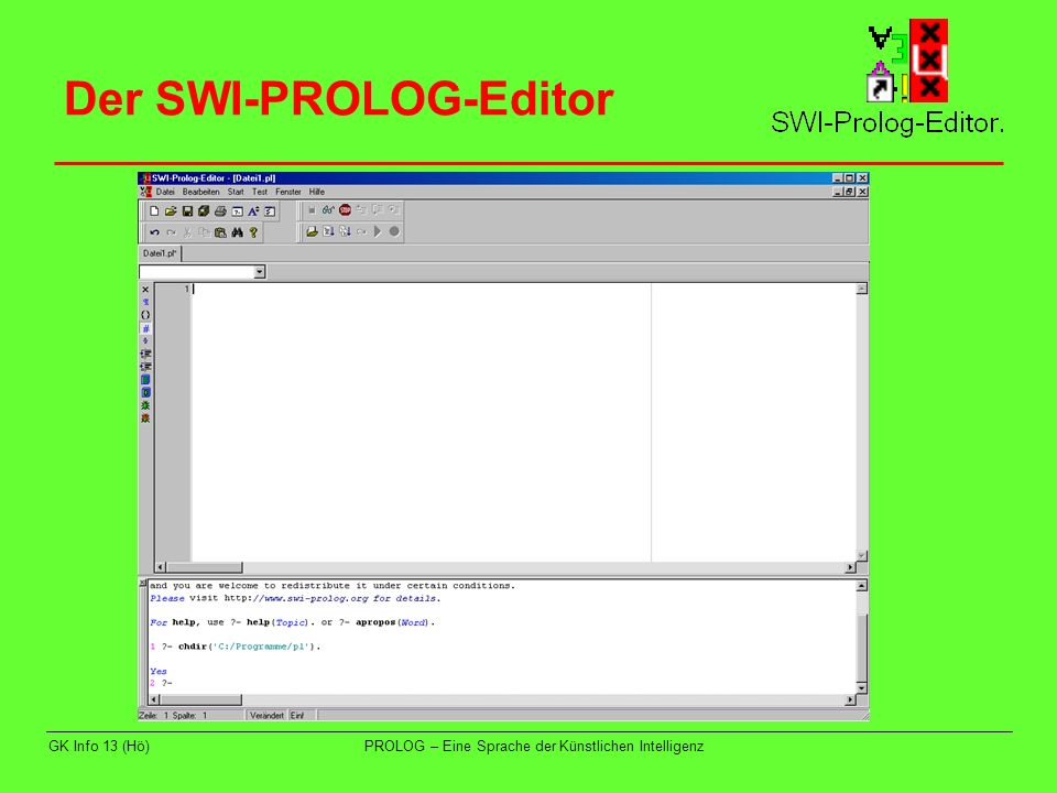 Der SWI-PROLOG-Editor