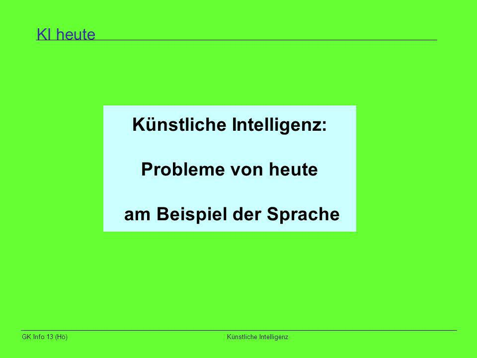 Künstliche Intelligenz: am Beispiel der Sprache