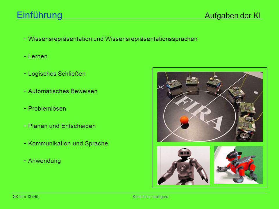 Einführung Aufgaben der KI