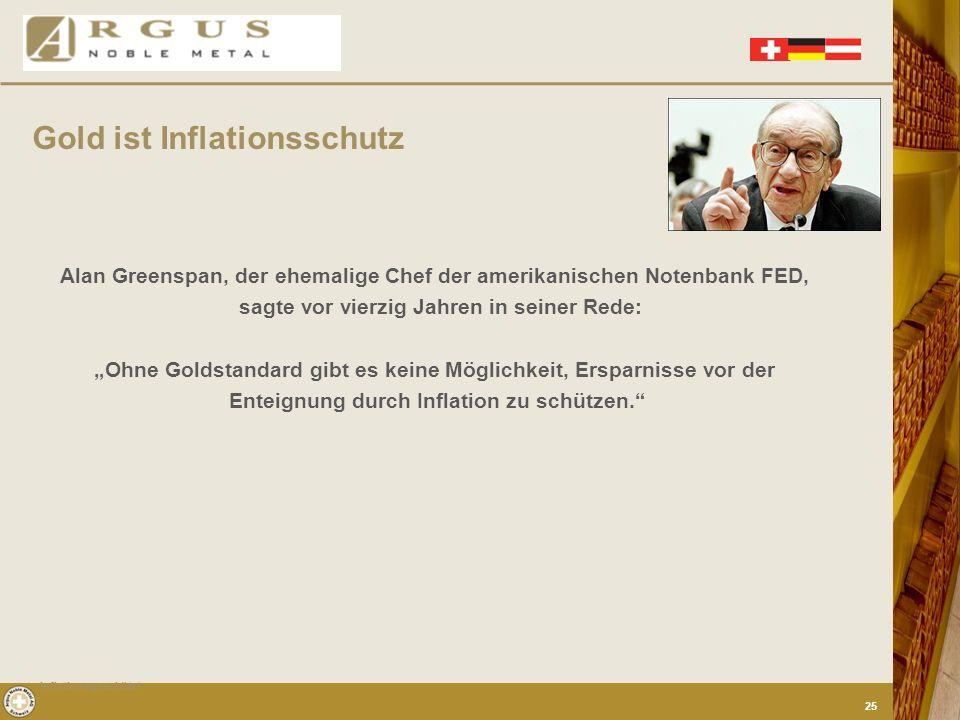 Gold ist Inflationsschutz