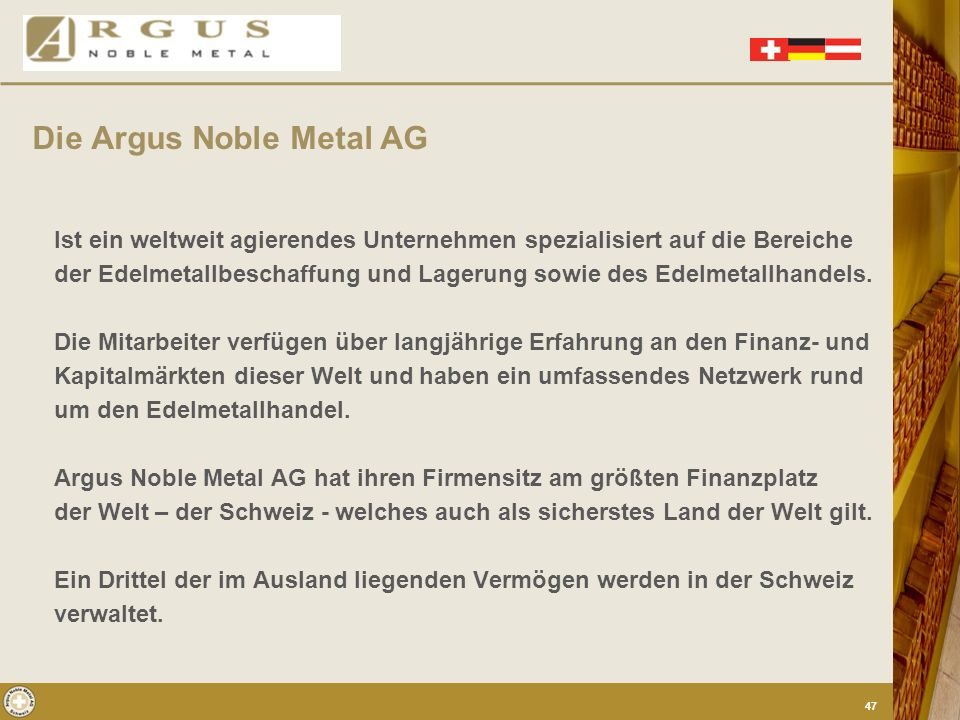 Die Argus Noble Metal AG