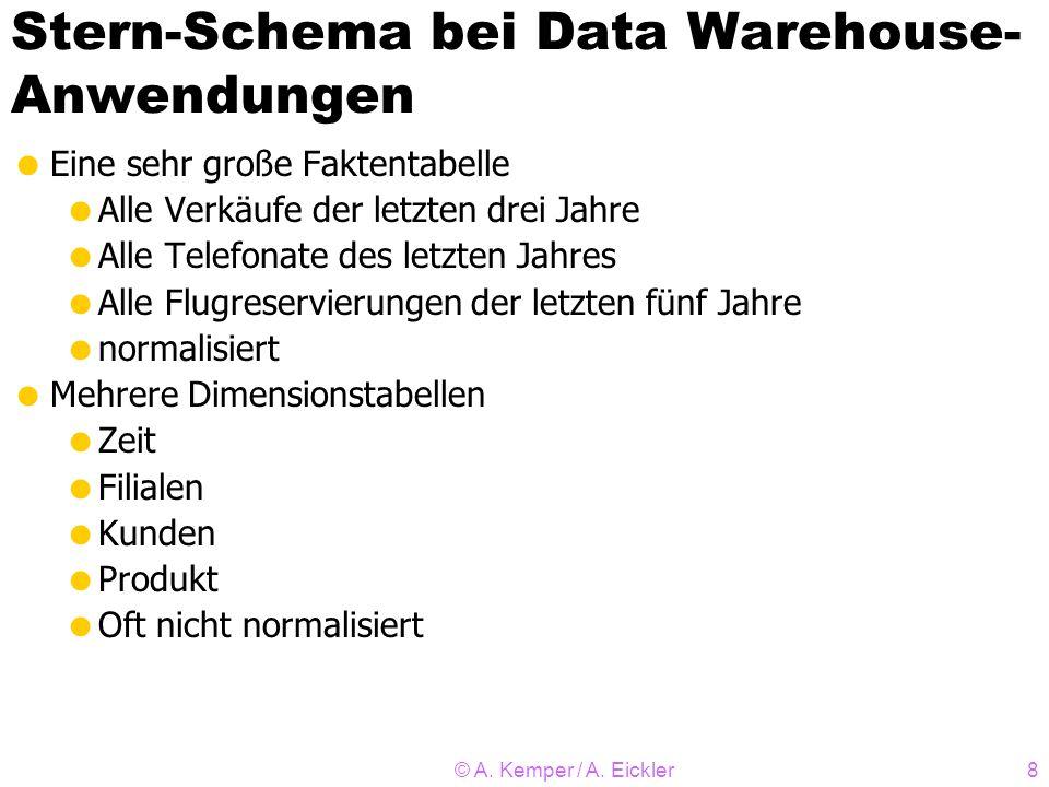 Stern-Schema bei Data Warehouse-Anwendungen