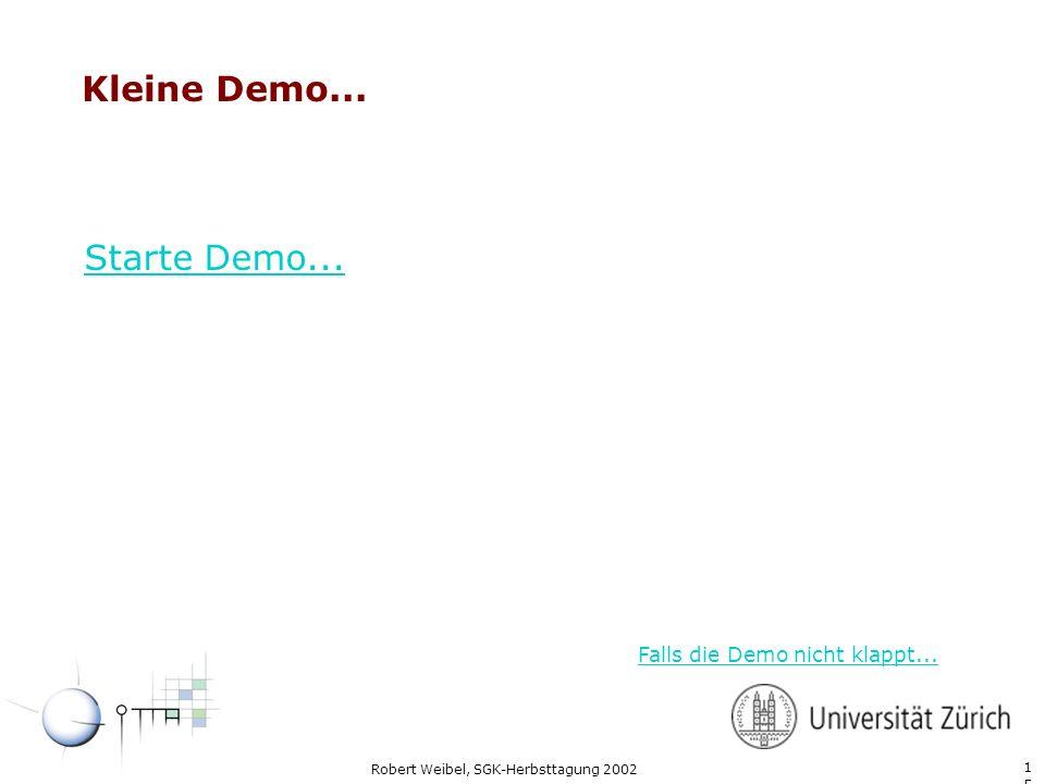 Kleine Demo... Starte Demo... Falls die Demo nicht klappt...