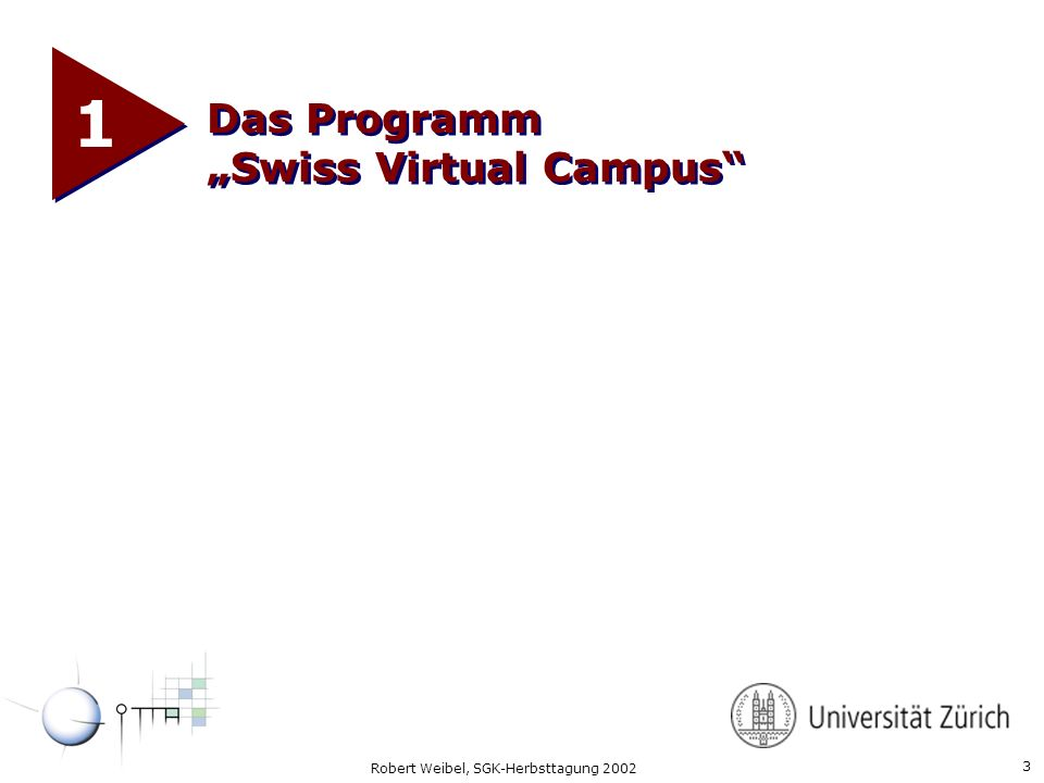 "1 Das Programm ""Swiss Virtual Campus"