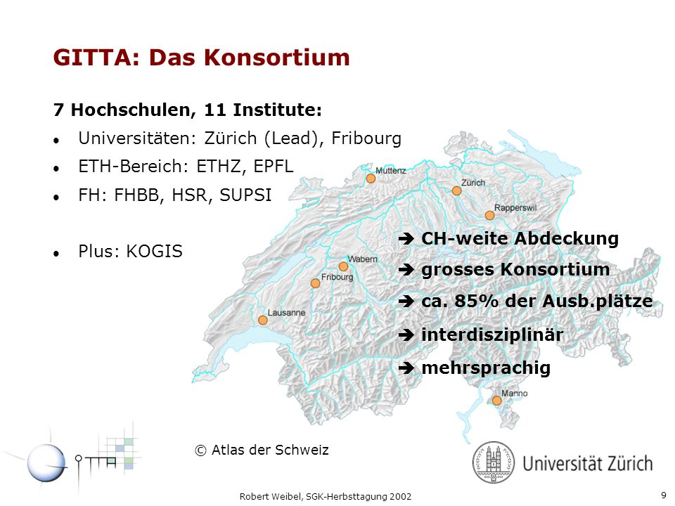 GITTA: Das Konsortium Who are we Geographers Forest engineers