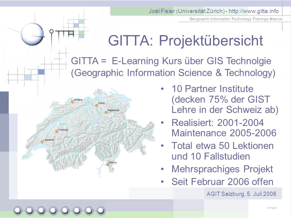 GITTA: Projektübersicht