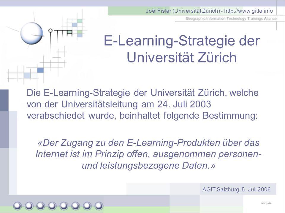 E-Learning-Strategie der Universität Zürich
