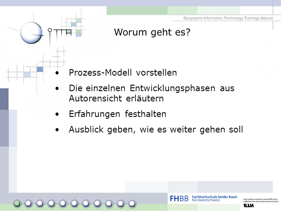 Worum geht es Prozess-Modell vorstellen