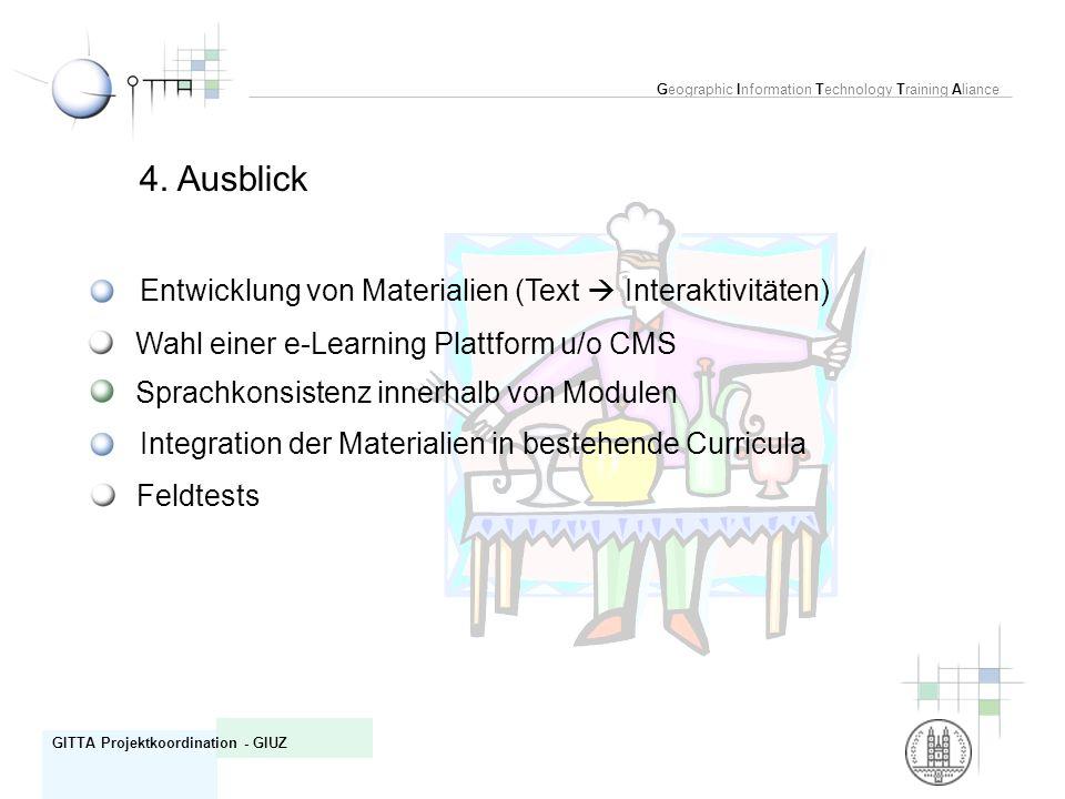 4. Ausblick Entwicklung von Materialien (Text  Interaktivitäten)