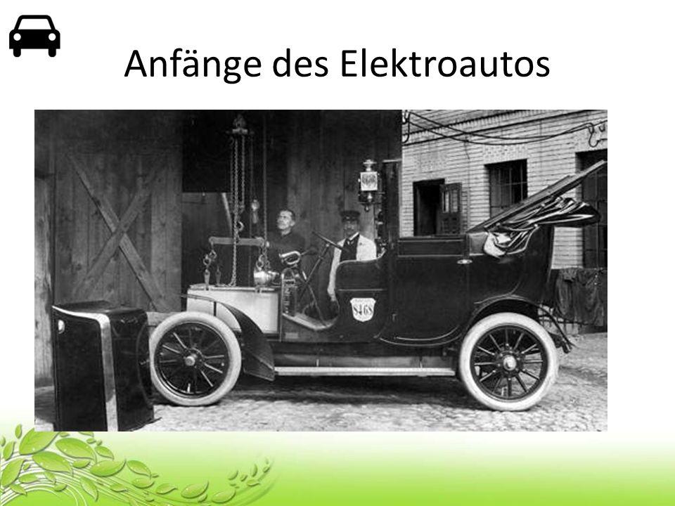 Anfänge des Elektroautos