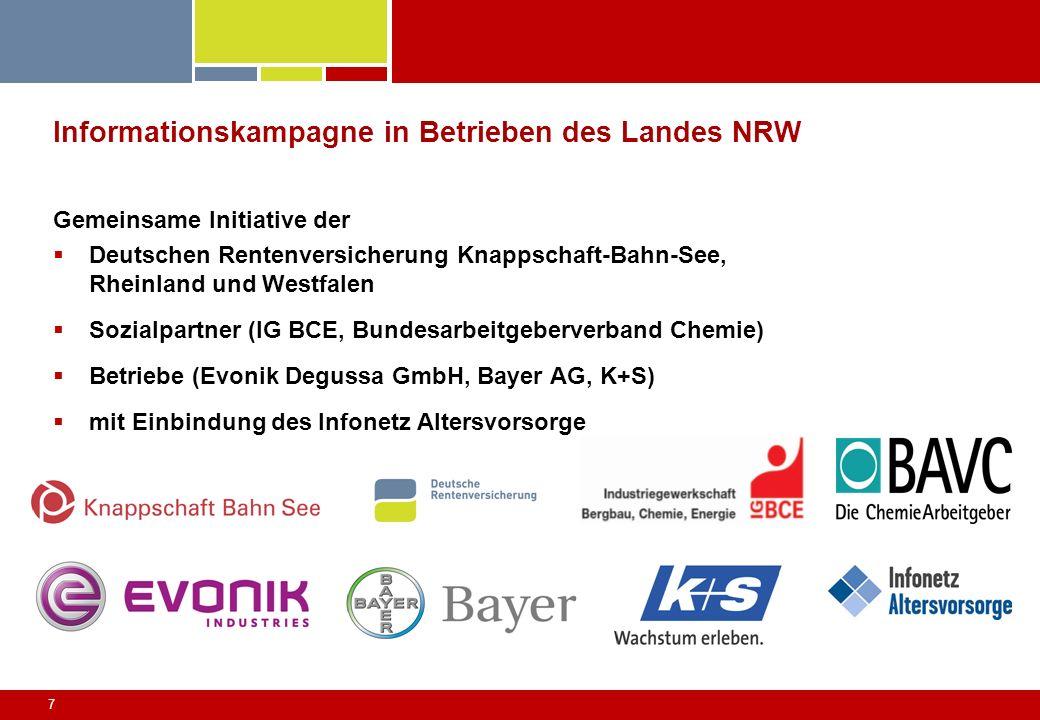 Informationskampagne in Betrieben des Landes NRW