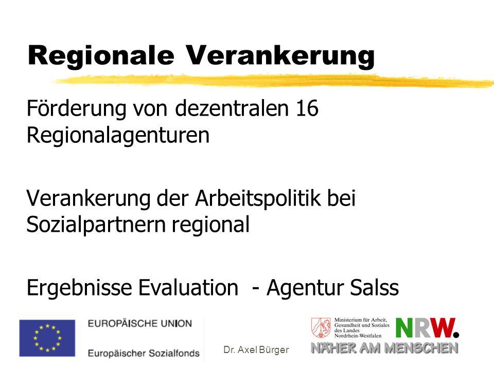 Regionale Verankerung
