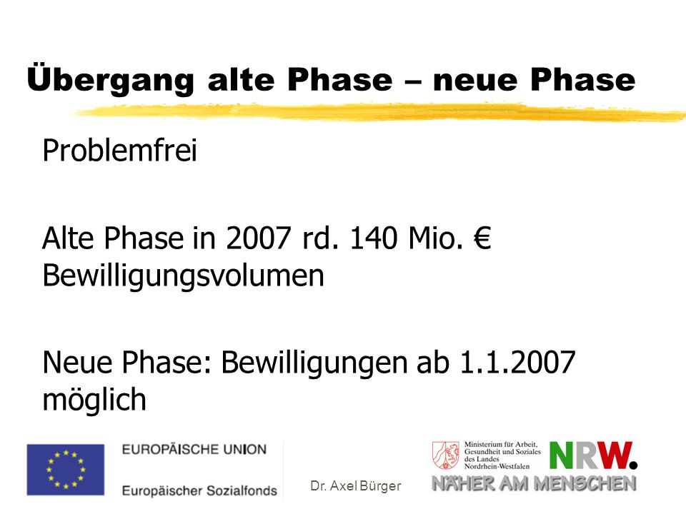 Übergang alte Phase – neue Phase