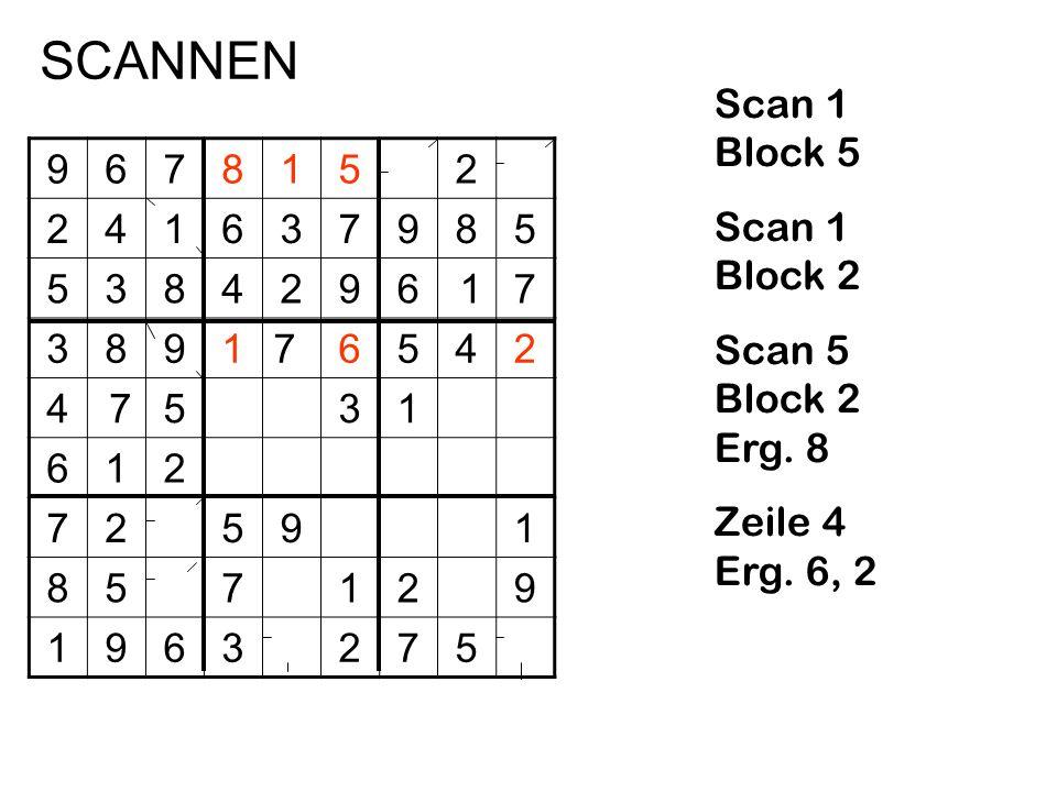 SCANNEN Scan 1 Block 5 Scan 1 Block 2 Scan 5 Block 2 Erg. 8
