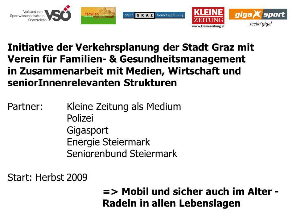 Initiative der Verkehrsplanung der Stadt Graz mit Verein für Familien- & Gesundheitsmanagement