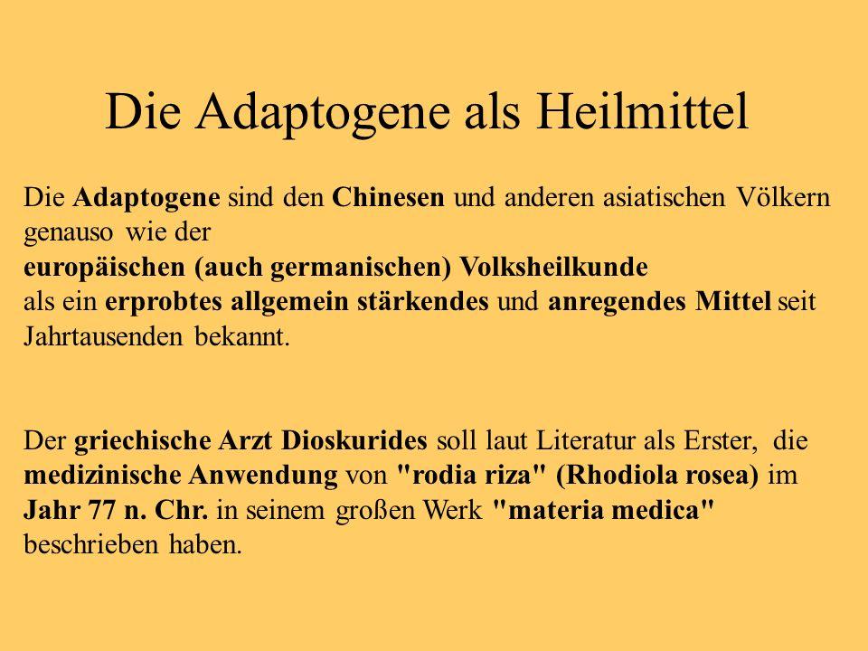 Die Adaptogene als Heilmittel