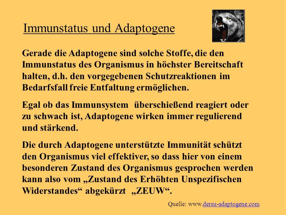 Immunstatus und Adaptogene