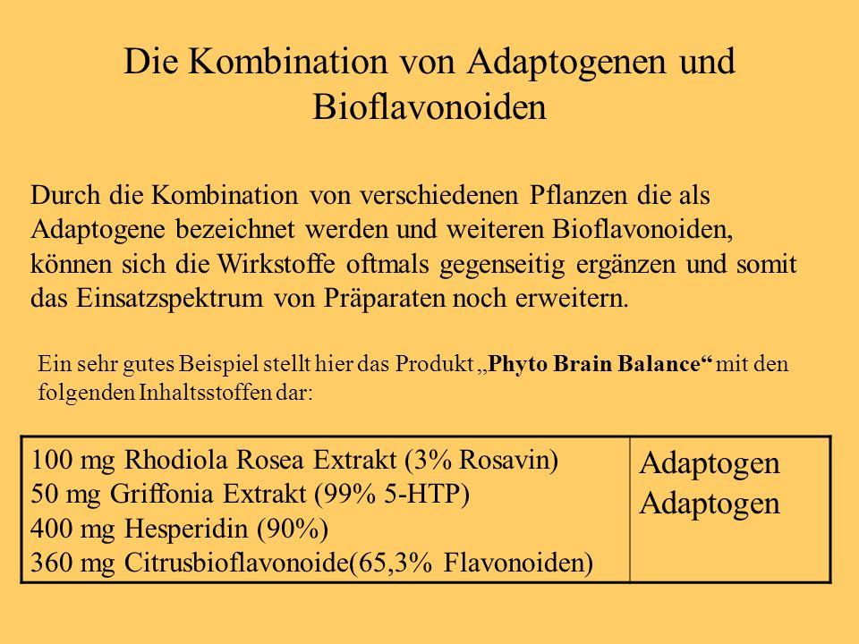 Die Kombination von Adaptogenen und Bioflavonoiden