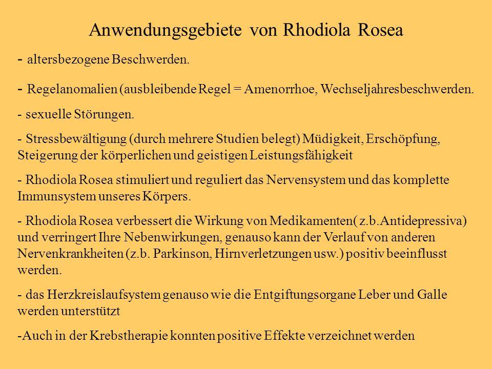 Anwendungsgebiete von Rhodiola Rosea
