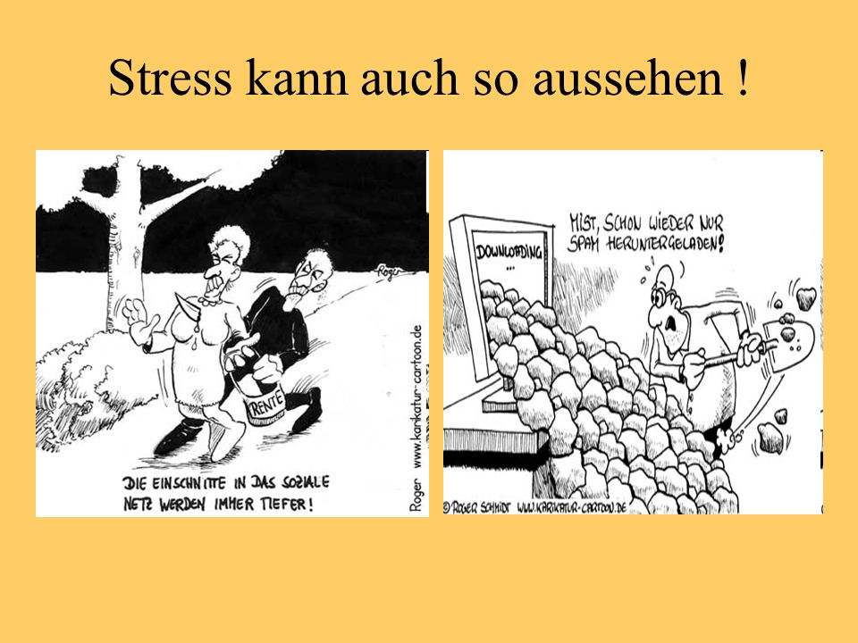 Stress kann auch so aussehen !