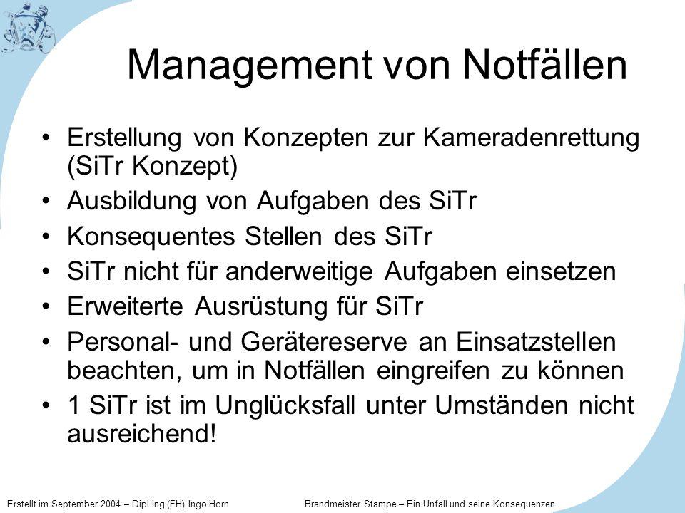 Management von Notfällen