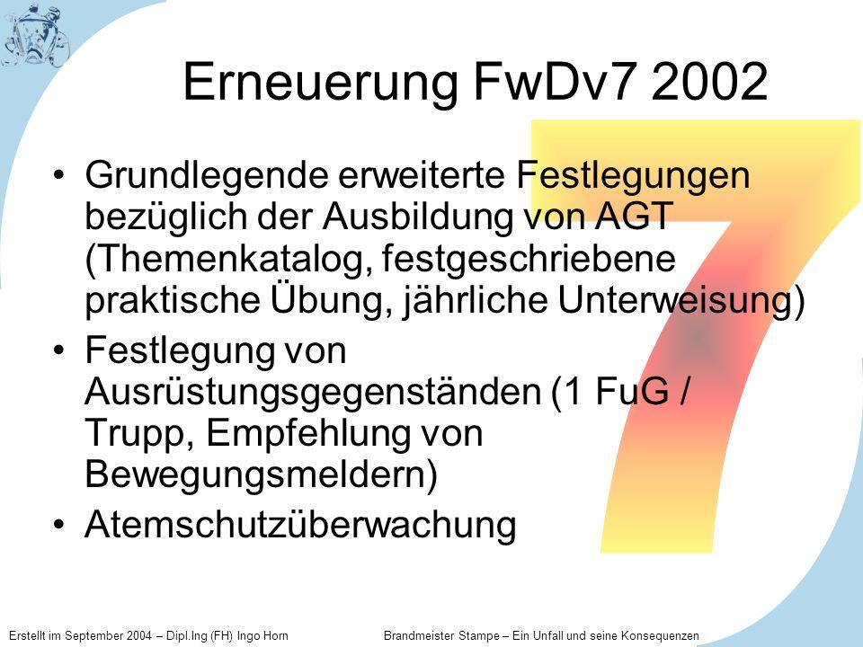Erneuerung FwDv7 2002 7.