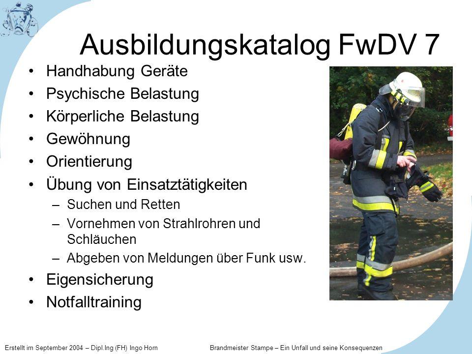 Ausbildungskatalog FwDV 7