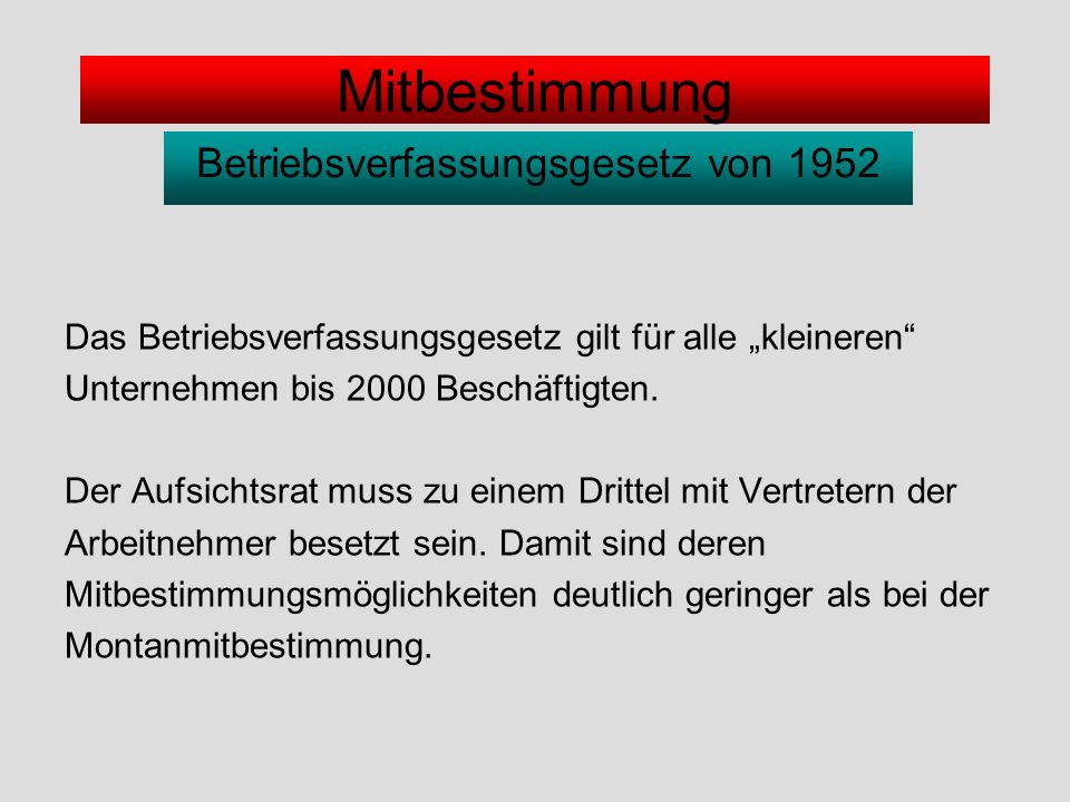 Betriebsverfassungsgesetz von 1952