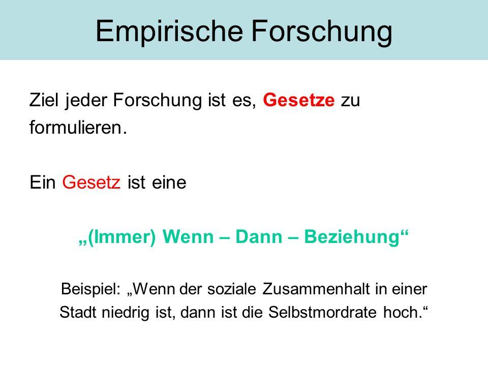 """(Immer) Wenn – Dann – Beziehung"