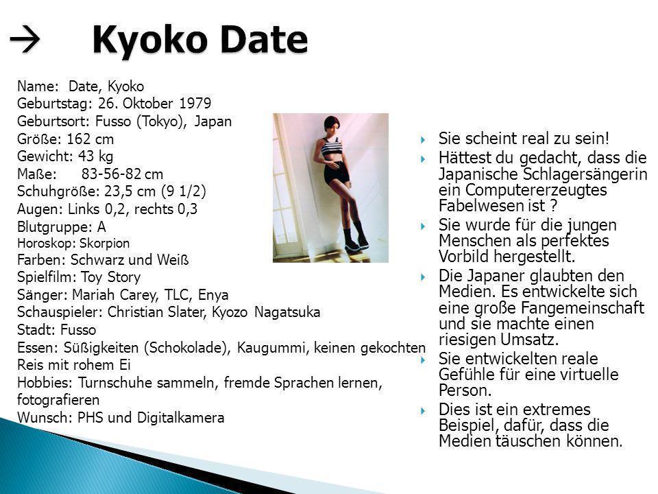  Kyoko Date Sie scheint real zu sein!