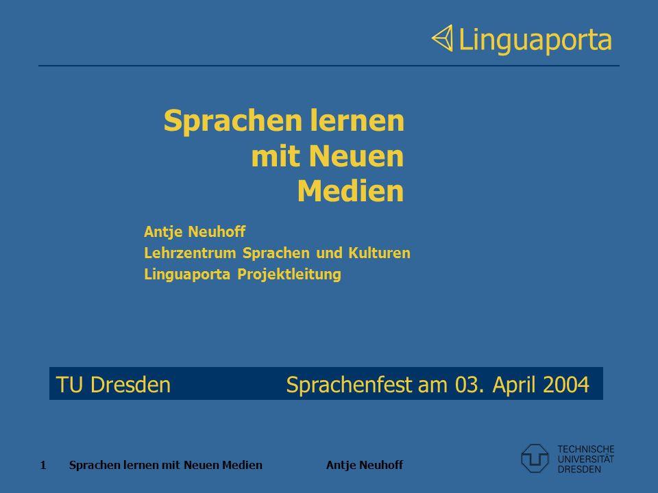 Sprachen lernen mit Neuen Medien